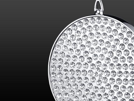 Disci Medallion Luxe - Rhodium