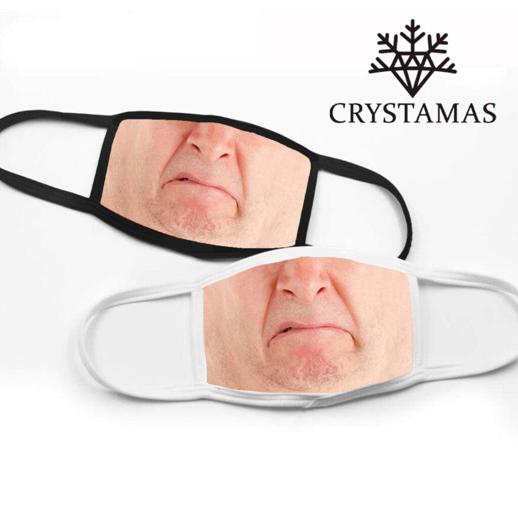 grumpy man face masks